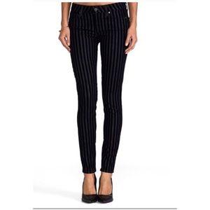 PAIGE vertigo ultra skinny flocked stripe jeans 29